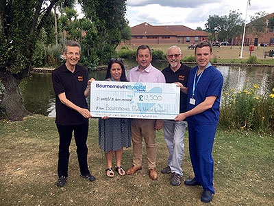 BMVC Support Bournemouth Hospital Charity 300x400px