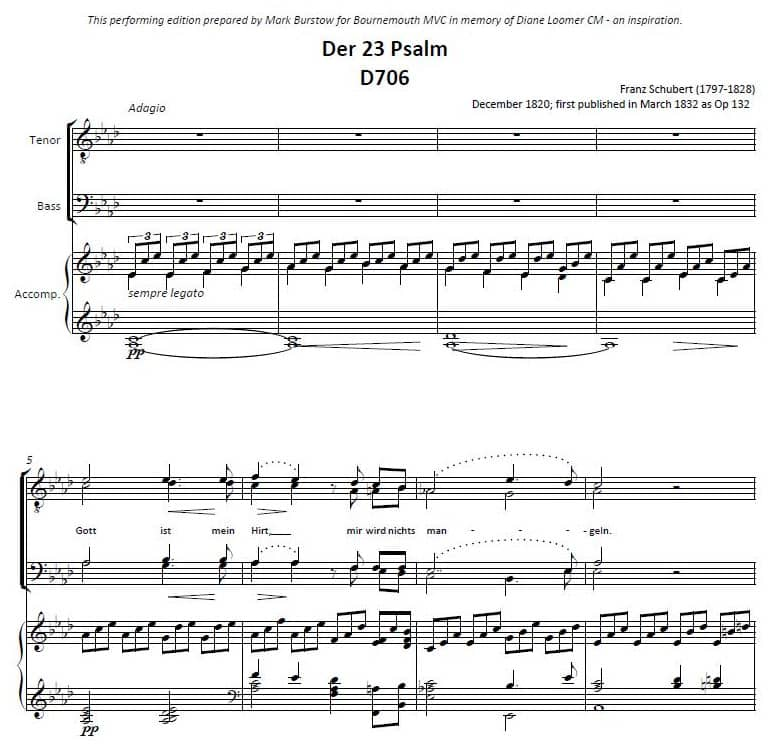 Der 23 Psalm A Performing Edition